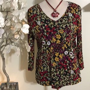 COLDWATER CREEK FLORAL TOP